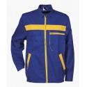 Работен костюм - полугащеризон и яке L4 /цвят син/