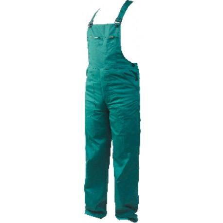 Памучен работен полугащеризон REX-BA /цвят зелен/