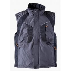 Waterproof thermal insulated vest NYALA /gray/ Code: 306220