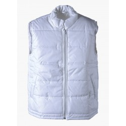 Napped vest (white), polyester