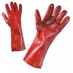 Работни ръкавици PVC с подплата от памук, 35 см