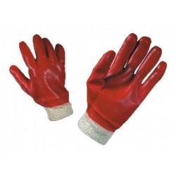 Работни ръкавици топени в PVC с ластичен маншет REDPOL