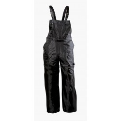 Waterproof, warming semi-overal, PVC/nylon –polyester Black