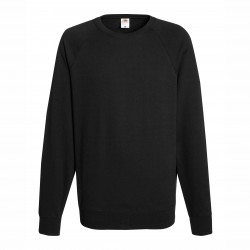 Long sleeve fleece raglan shirt ID 10 - Black