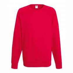 Long sleeve fleece raglan shirt - Red