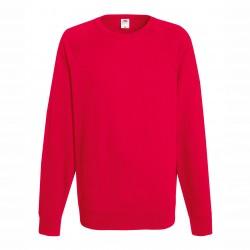 Long sleeve fleece raglan shirt - Red