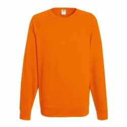 Long sleeve fleece raglan shirt ID 10 - Orange