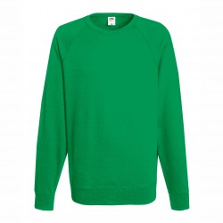 Long sleeve fleece raglan shirt ID 10 - Green