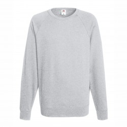 Long sleeve fleece raglan shirt ID 10 - Grey