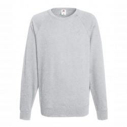 Long sleeve fleece raglan shirt ID 10 - Grey