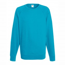 Long sleeve fleece raglan shirt ID 10 - Turquoise