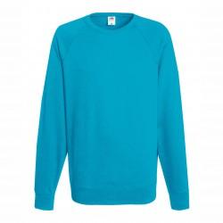 Long sleeve fleece raglan shirt ID 10 - Turquoise