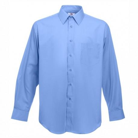 Класическа мъжка риза с дълъг ръкав ID 64 (св.син)