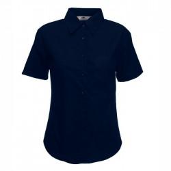 Дамска класическа риза с къс ръкав ID 35 (тъмно синя)
