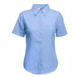 Дамска класическа риза с къс ръкав ID 35 (светло синя)