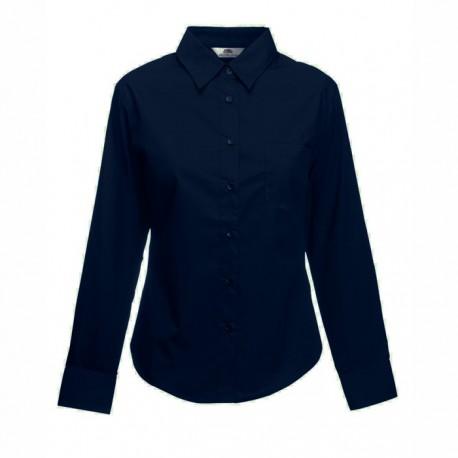 Дамска риза с дълъг ръкав ID 63 (т.синя)