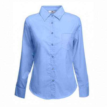 Дамска  риза с дълъг ръкав ID63 (светло синя)